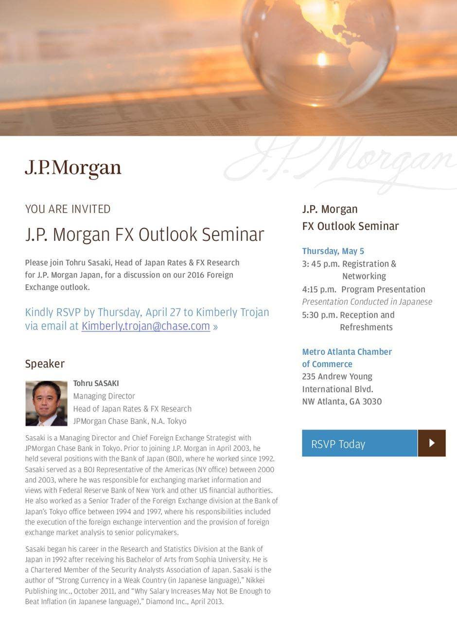 The Japan-America Society of Georgia - JP Morgan Chase FX Seminar